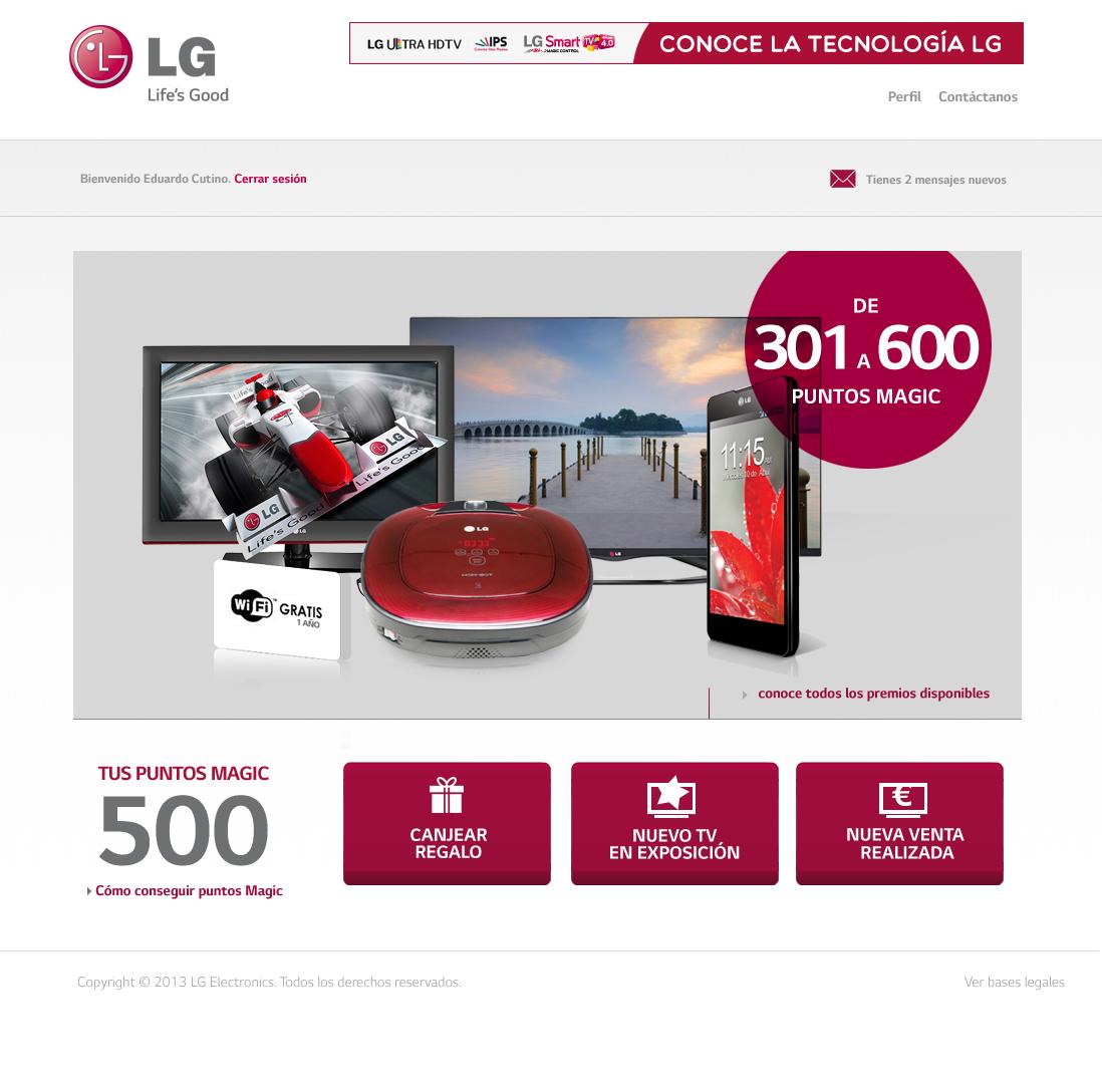LG Tú tienes el mando de la venta